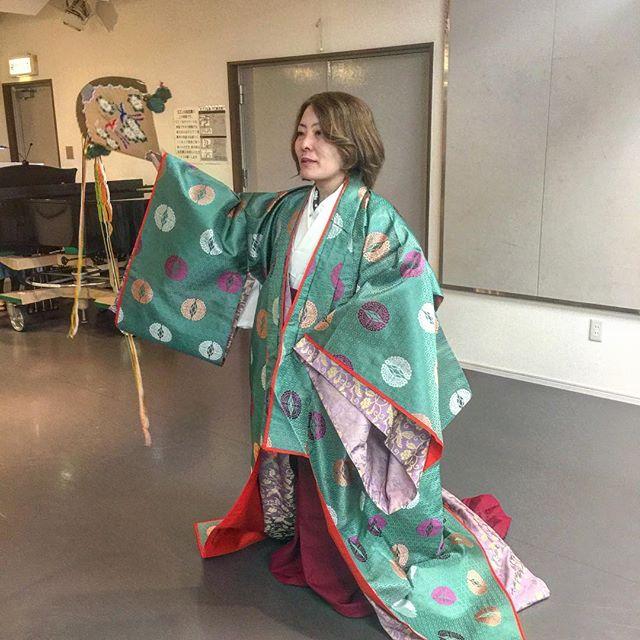 東京開催のオペラ業平のリハーサル&衣装合わせ於:テアトル・ラモー