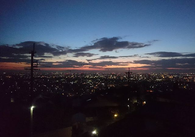 2018 大阪湾の夜明けHappy new year