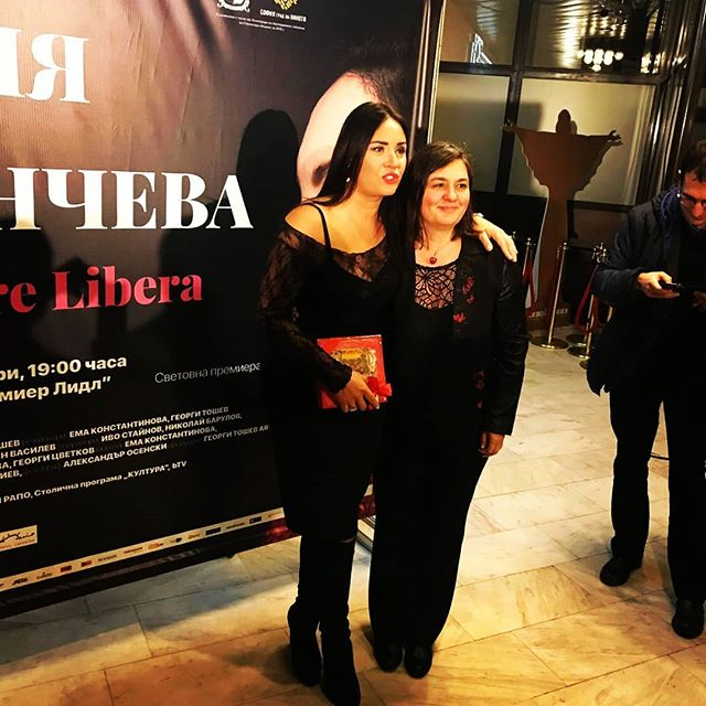 "From the Premiere of ""Sonya Yoncheva. Sempre Libera""Neli Koycheva was very excited to visit this emotional event. #Sonya Yoncheva #ソンヤ・ヨンチェヴァ#Neli Koycheva"